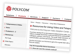 PolycomVideoAdoptionCenter